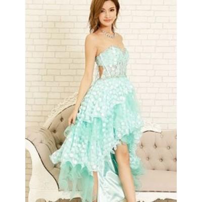 AngelR ドレス エンジェルアール キャバドレス ナイトドレス ロングドレス ライトグリーン 緑 7号 S 6213-AR クラブ スナック キャバクラ