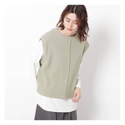 【ザ ショップ ティーケー/THE SHOP TK】 リブベスト×TシャツSET