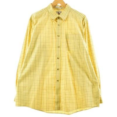 エルエルビーン L.L.Bean 長袖 ボタンダウンチェックシャツ メンズXL /eaa162145