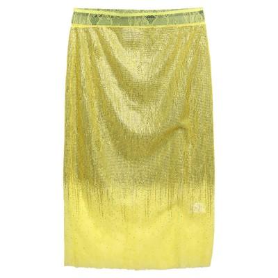 BRAND UNIQUE 7分丈スカート ビタミングリーン 46 ナイロン 100% 7分丈スカート