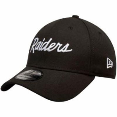 New Era ニュー エラ スポーツ用品  New Era Oakland Raiders Black Team Classic Throwback 39THIRTY Flex Hat