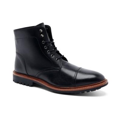 """アンソニー ヴィア ブーツ&レインブーツ シューズ メンズ Men's Ranveer Cap-Toe Rugged 6"""" Lace-Up Boots Black"""