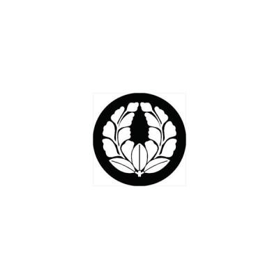 家紋シール 七つ花上がり藤紋 直径24cm 丸型 白紋 KS24M-1801W