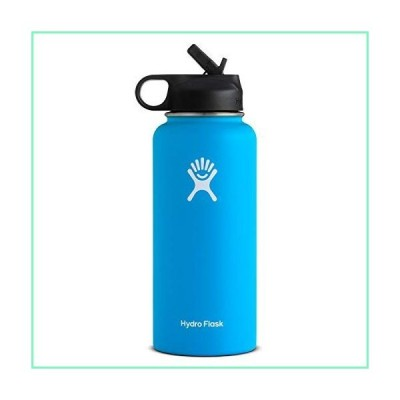 Hydro Flask ハイドロフラスコ Stainless Steel Water Bottle Wide Mouth with Straw Lid (並行輸入品) (Pacific)【並行輸入品