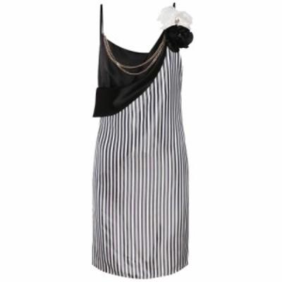 ランバン Lanvin レディース ワンピース ワンピース・ドレス Striped satin minidress Navy Blue