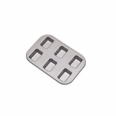 富士ホーロー フッ素樹脂 ベイクウェアー No.57305 ミニパウンドケーキ型 6P WPU3801