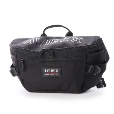 アヴィレックス AVIREX ウエストボディバッグ (black)