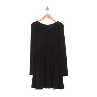 アールディスタイル レディース ワンピース トップス V-Neck Tiered Dress BLACK