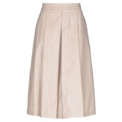 EUROPEAN CULTURE 七分丈スカート  レディースファッション  ボトムス  スカート  ロング、マキシ丈スカート ベージュ