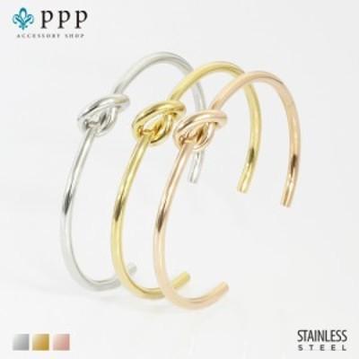 ステンレス バングル(25)結わき  カラー選択可(メイン)銀色 金色 ピンクゴールド バングル ブレス 金属アレルギー対応 レディース