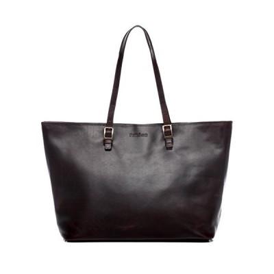 "FEYNSINN Laptop Tote Bag Grace Large Business Bag Real Leather 15.6"" Laptop Cross-Body Office Bag Leather Bag Women´s Bag Brown 並行輸入品"