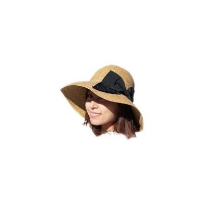 帽子 レディース 麦わら帽子 UV 折りたたみ帽子 つば広 ハット 紫外線 春 夏 ストローハット uvカット オシャレ つば広帽子 大きいサイズ 小