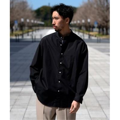 【エディフィス/EDIFICE】 FINX ブロード バンドカラーシャツ