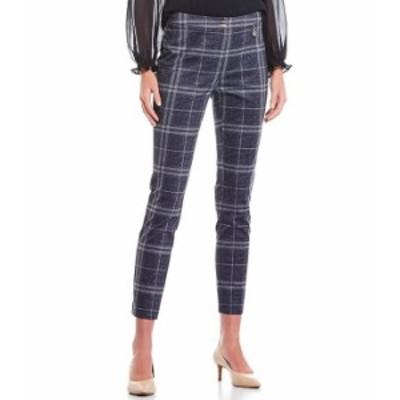 トミー ヒルフィガー レディース カジュアルパンツ ボトムス Plaid Suiting Ankle Pants Indigo/Ivory Multi