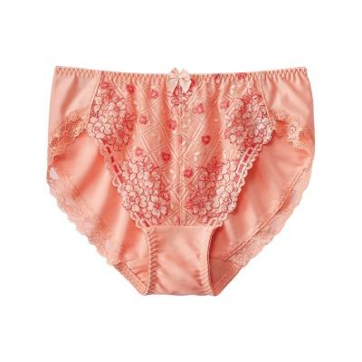 編みレースやや深ばき丈ストレッチショーツ(トリンプ)(3L) スタンダードショーツ, Panties