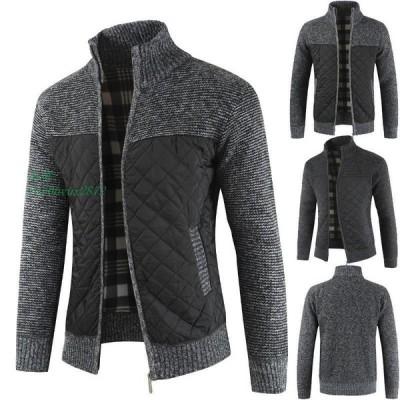 カーディガン ジャケット 羽織り ボア付き コード 長袖 30代 ニットセーター 50代 40代 秋冬 メンズ