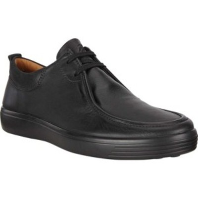 エコー メンズ スニーカー シューズ Soft 7 Low Chukka Sneaker Black/Black Java Nubuck