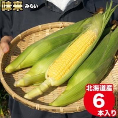 2021年早期予約承り中 8月出荷開始 送料無料 北海道産 とうもろこし「味来」(1箱 6本入り) / 北海道 直送 とうきび とうもろこし トウモ