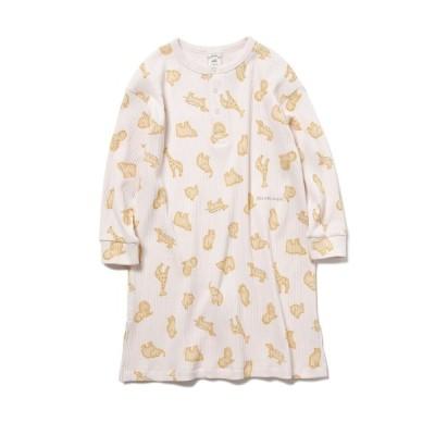 【ジェラートピケ】  クッキーアニマルモチーフ kids ドレス キッズ ピンク XS gelato pique