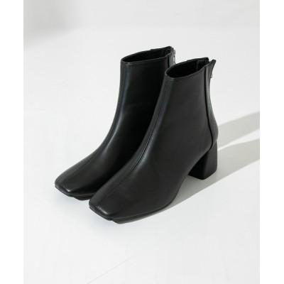 UNITED TOKYO / バイカラースクエアショートブーツ WOMEN シューズ > ブーツ