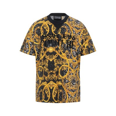 VERSACE JEANS COUTURE T シャツ グレー L コットン 100% T シャツ
