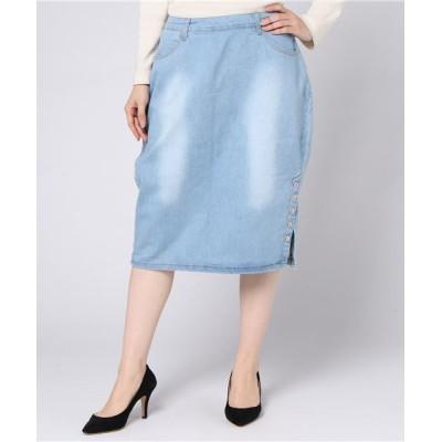 STYLEBLOCK / ひざ丈タイトデニムスカート WOMEN スカート > デニムスカート