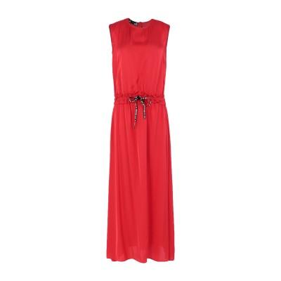 ラブ モスキーノ LOVE MOSCHINO ロングワンピース&ドレス レッド 44 レーヨン 100% ロングワンピース&ドレス