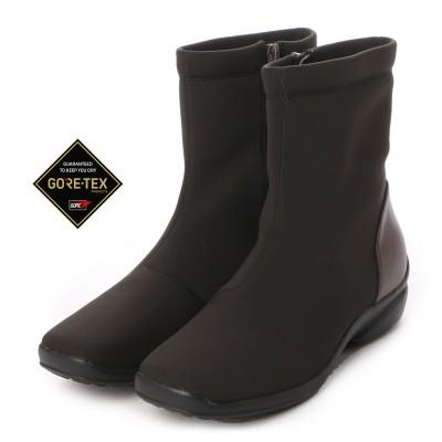 【GORE-TEX】マドラスウォーク madras Walk フラットで履きやすい♪ロングスカートにも相性の良い シンプルなショートブーツ  MWL2072(ダークブラウン)