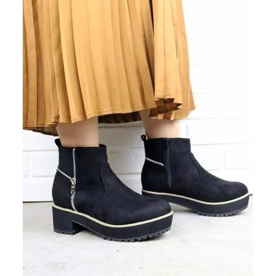 ZealMarket/SFW / 6cmチャンキーヒール厚底サイドゴアジップブーツ WOMEN シューズ > ブーツ