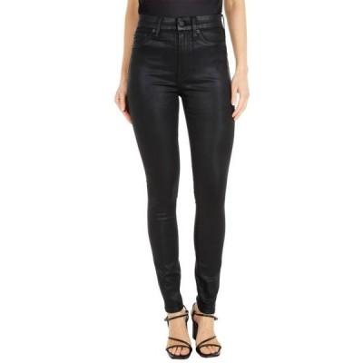 セブン・フォー・オール・マンカインド レディース パンツ The High-Waist Skinny Faux Pocket in B(Air) Black Coated