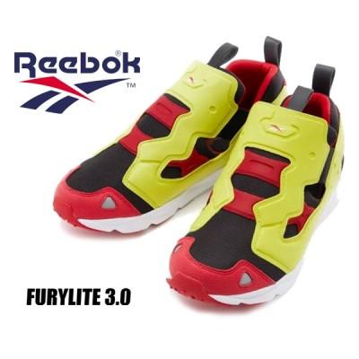 リーボック フューリーライト 3 REEBOK FURYLITE 3.0 BLACK/HYPGRN/RBKRED fu9080 スニーカー スリッポン シトロン 3D ULTRALITE