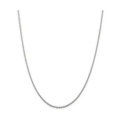 ネックレスRyan Jonathan Fine Jewelry Sterling Silver 2.25mm Cable Chain Necklace