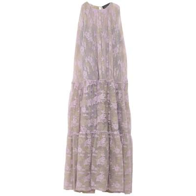 ジャンルカ・カパンノロ GIANLUCA CAPANNOLO ロングワンピース&ドレス ライラック 44 ナイロン 100% ロングワンピース&ドレス