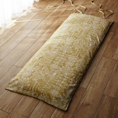 麻入り素材の北欧調デザインごろ寝マットカバー