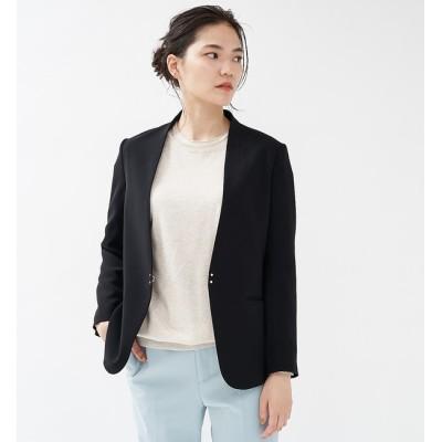 【カリテ/qualite】 ダブルサテンジャケット