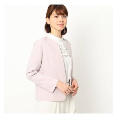 【クチュール ブローチ/Couture brooch】 【ママスーツ/入学式 スーツ/卒業式 スーツ】カラーレスジャケット