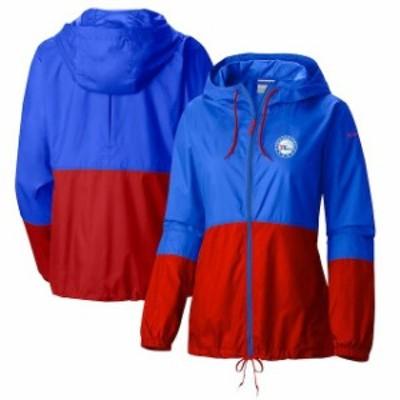 Columbia コロンビア スポーツ用品  Columbia Philadelphia 76ers Womens Blue Flash Forward Full-Zip Windbreaker Jacket