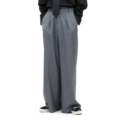 [BASICCOTTON] FW 20 Basic Wide Pants - GRAY