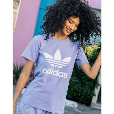 アディダス ADIDAS レディース Tシャツ トップス Adicolor Classics Trefoil Tee LTPUR