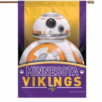 WinCraft ウィンクラフト スポーツ用品  WinCraft Minnesota Vikings 28 x 40 Star Wars Single-Sided House Banner