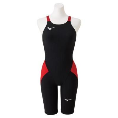 ミズノ 競泳用MX・SONIC α ハーフスーツ[ジュニア] 96ブラック×レッド 140 スイム 競泳水着 N2MG0411
