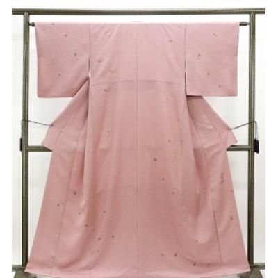 小紋 正絹 染色作家 浅井青仁作 身丈160cm 裄丈62.5cm 小紋 美品 リサイクル 着物