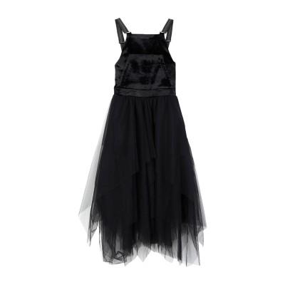 ブルネロ クチネリ BRUNELLO CUCINELLI ロングワンピース&ドレス ブラック M ナイロン 100% / コットン / レーヨン /