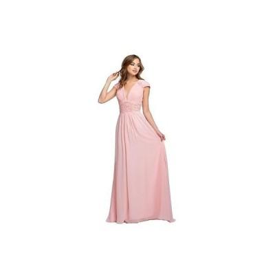 海外セレクション ドレス ワンピース Terani Couture 9028 ピンク Chiffon Prom Formal ドレス Gown 2 BHFO
