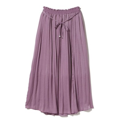 BEAMS WOMEN / BEAMS HEART / スリットプリーツ ロングスカート WOMEN スカート > スカート