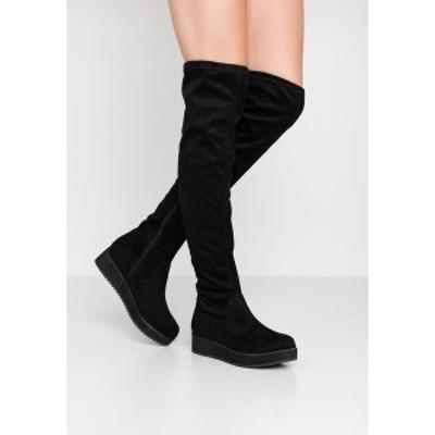 ブルボクサー レディース ブーツ&レインブーツ シューズ Over-the-knee boots - black black