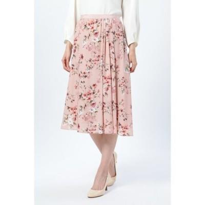 スカート ウォーターフラワープリントスカート