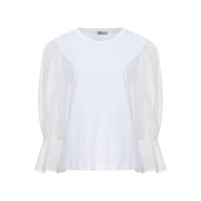 CAPPELLINI by PESERICO T シャツ ホワイト 38 ナイロン 100% / コットン T シャツ