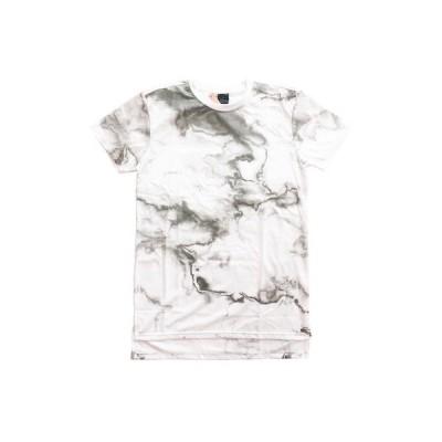 ザ プラグ 丈長 Tシャツ THE PLUG MARBLE PRINT WASHED TEE [WHITE] /[レターパックプラス可]【更にSALE】
