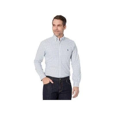 ポロ・ラルフローレン Slim Fit Poplin Shirt メンズ シャツ トップス Blue/Green Multi